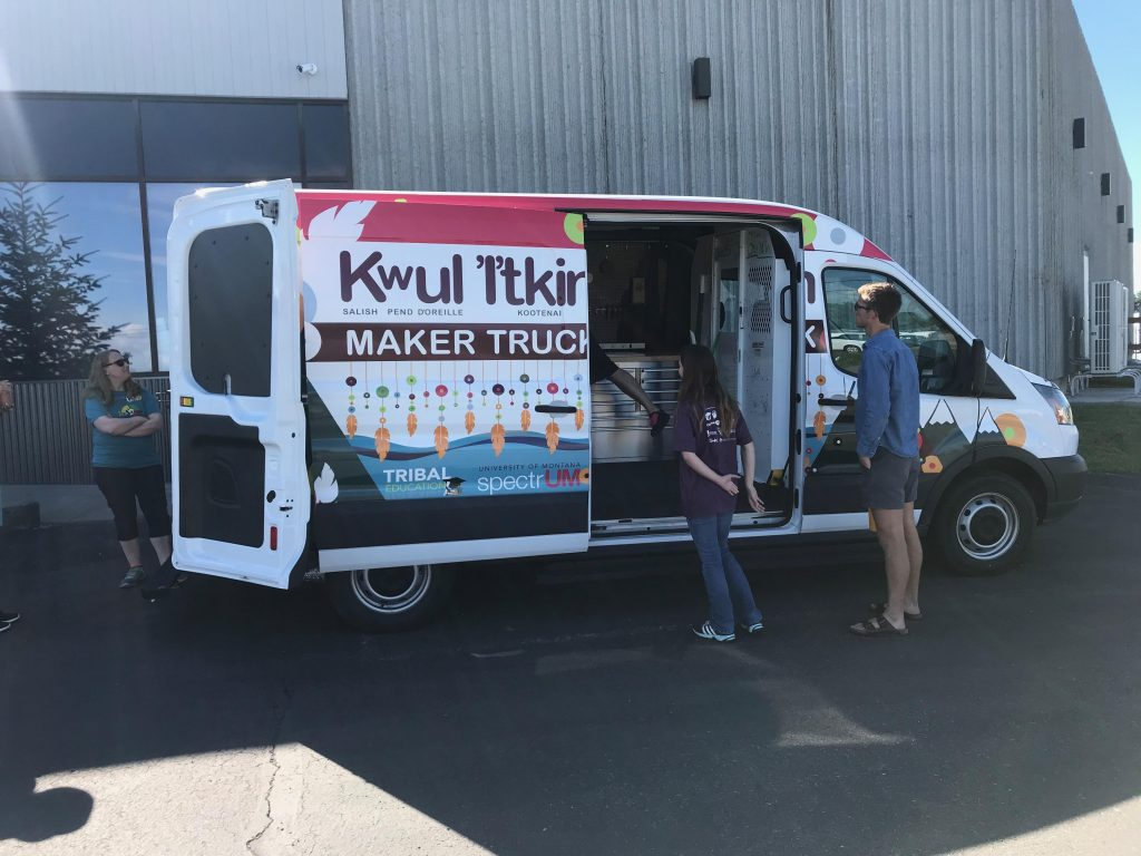 K'wUL Itkin Maker Truck for the Tech4Good Summer Camp