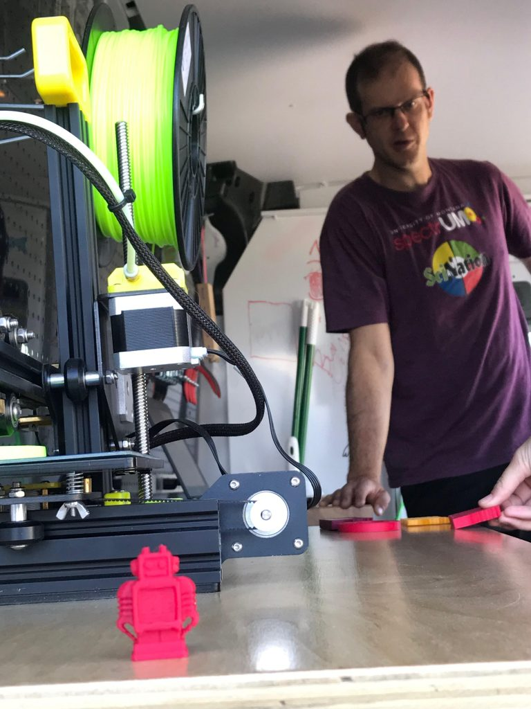 SciNation's Nick Wethington demonstrates the 3D Printer